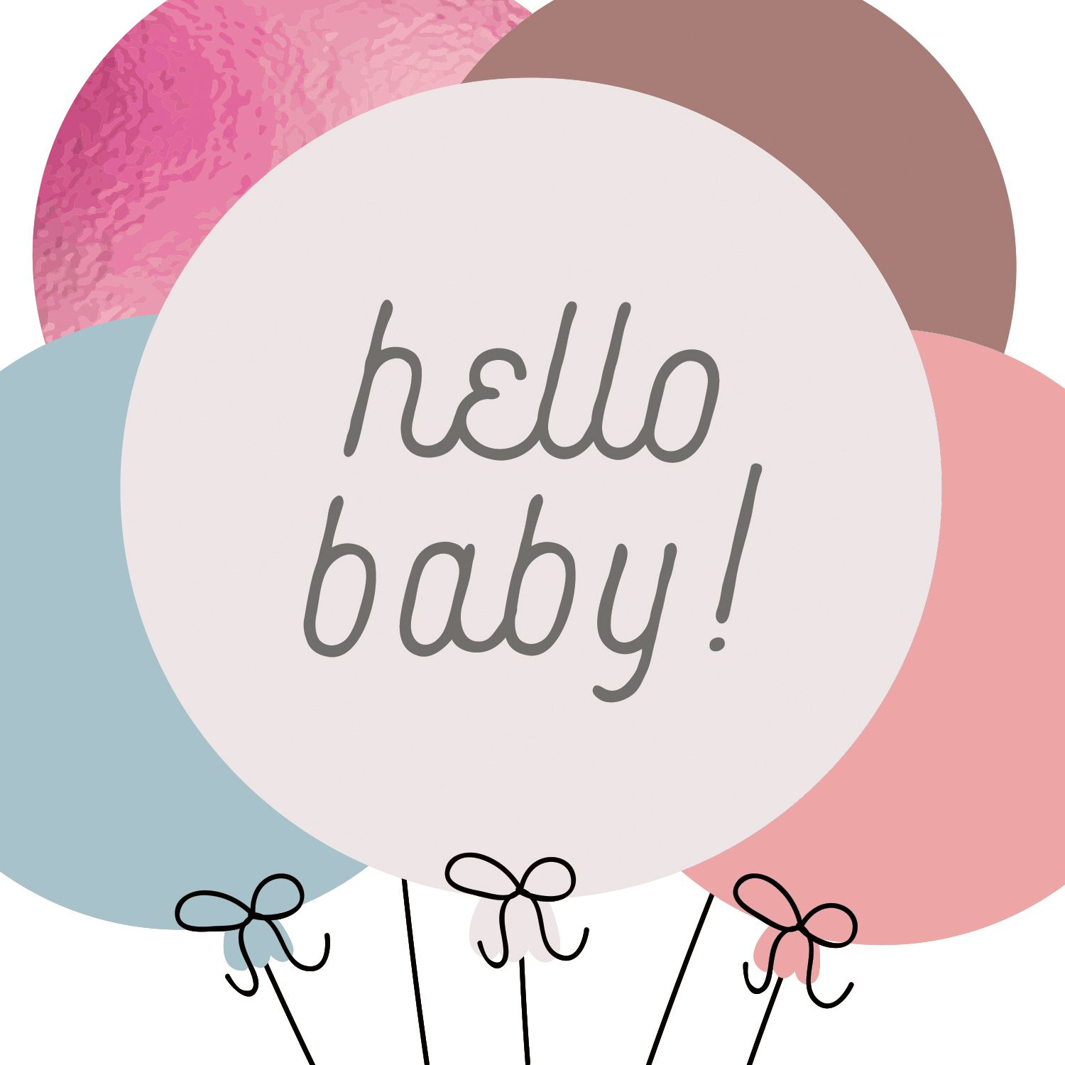 Baby Balloons Congratulations Card Free Greetings Island Free Printable Greeting Cards Printable Cards Congratulations Card
