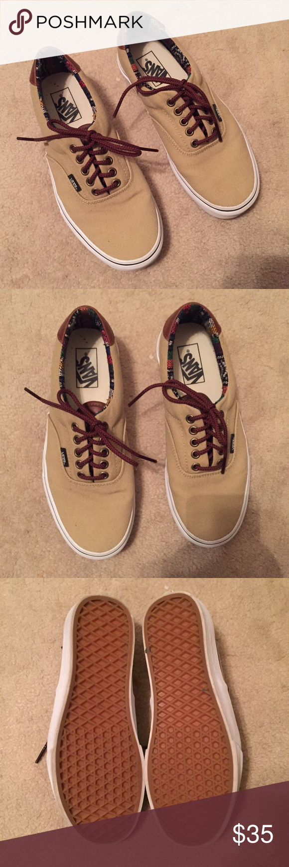 Women's Size 9 vans Perfect condition, only worn twice. Women's size 9. Men's size 7.5. Vans Shoes