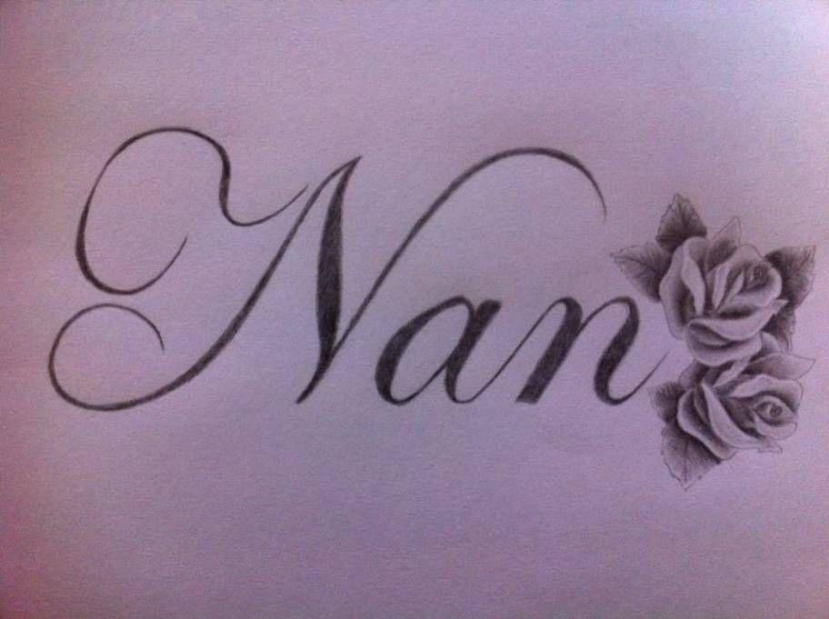 nan tattoo writing tattoos gallery pinteres. Black Bedroom Furniture Sets. Home Design Ideas