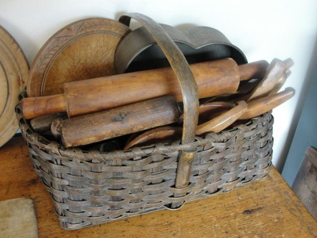 Prim Basket...and old rolling pins.