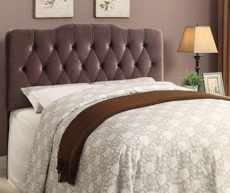 Upholstered Soft Shape Velvet Slate Headboards at Big Lots HOME