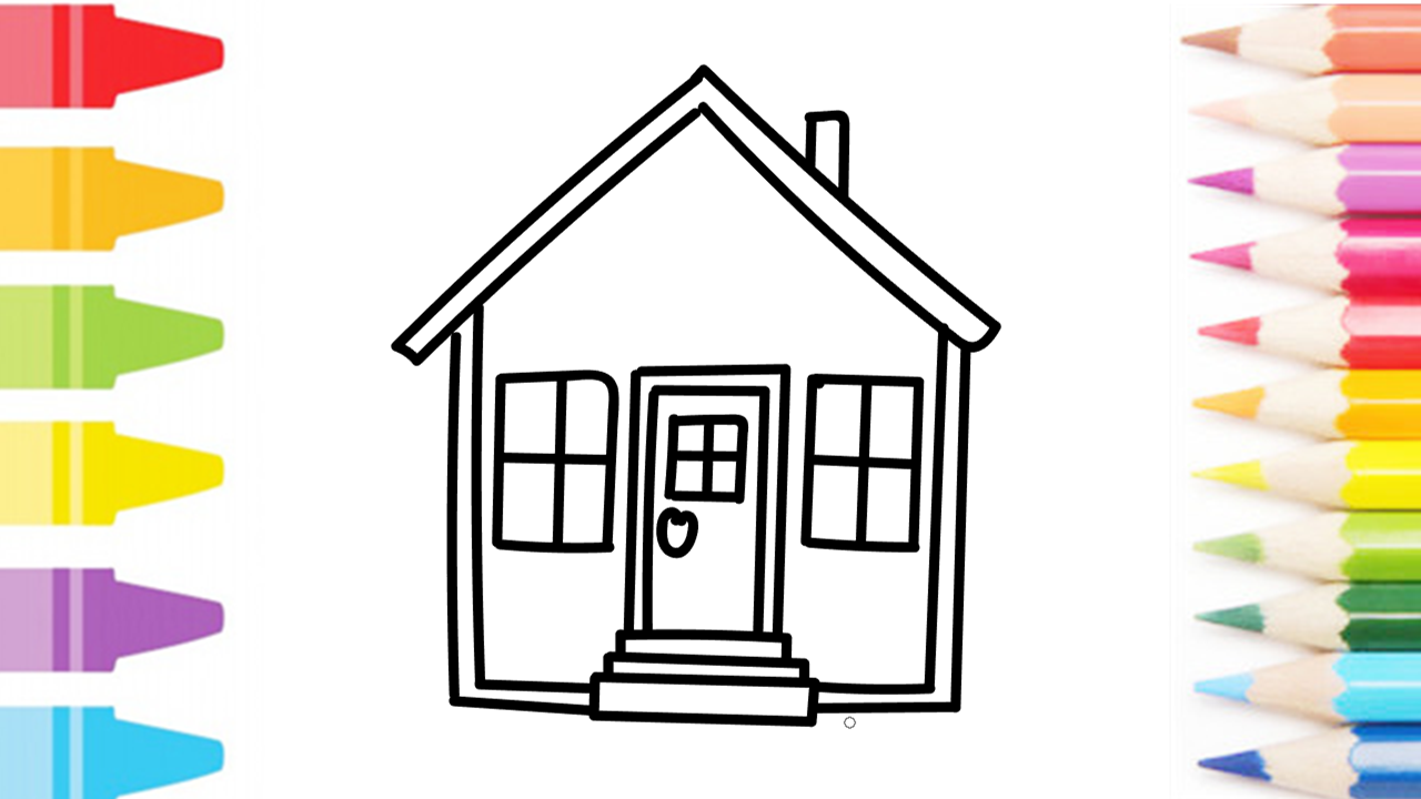 How To Draw And Paint Beautiful House Painting Drawing For Kids