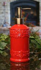 Red Soap Lotion Dispenser By Drake Design Dispensers Kitchen Gadgets