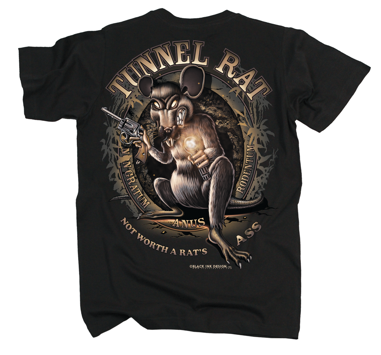 11b07456 Men's Military T-Shirt - Tunnel Rat