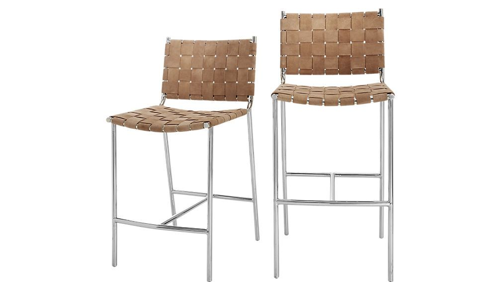 Cb2 brown suede bar stools bar stools shabby chic table