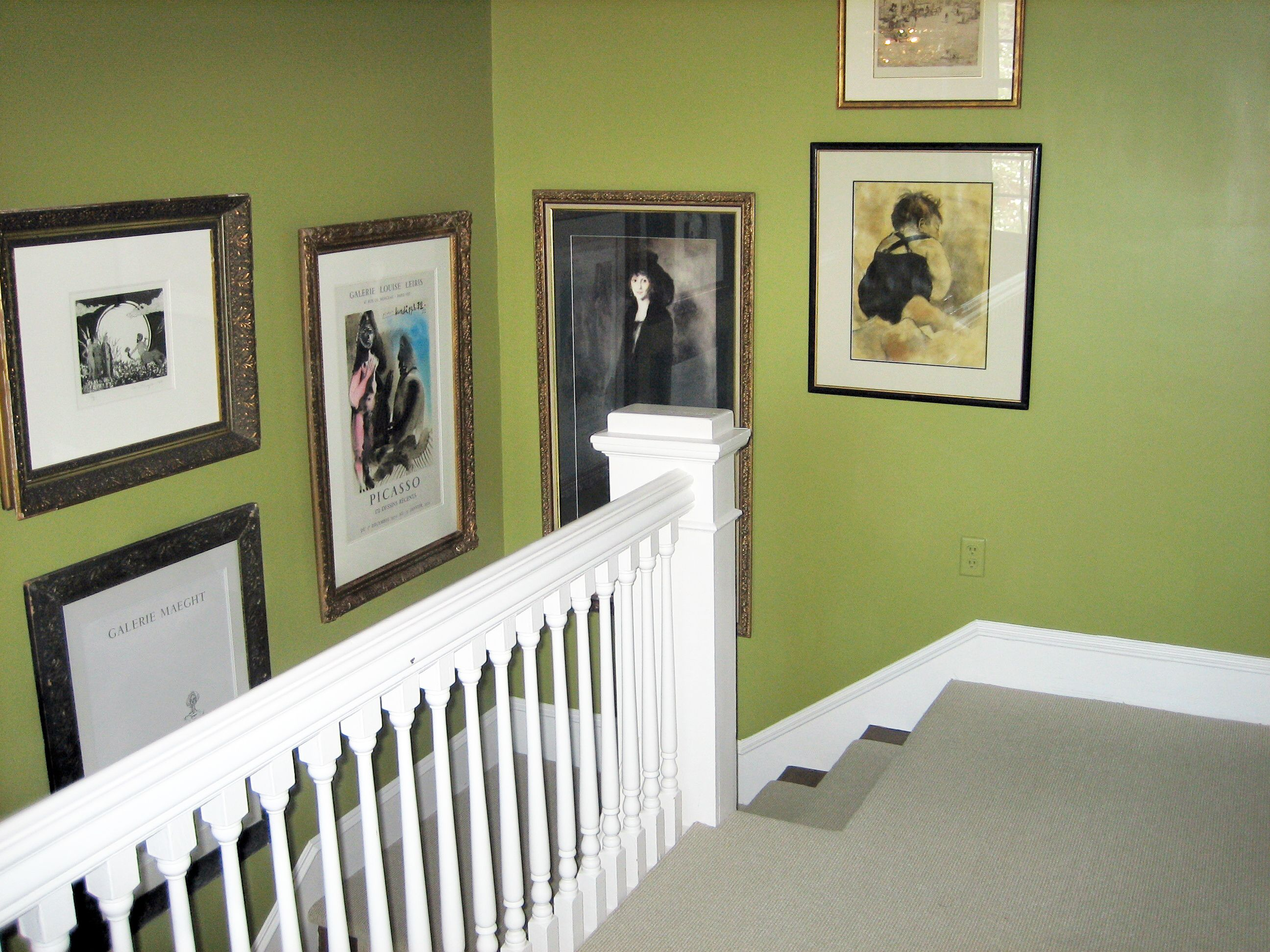 green painted hallways - Google Search