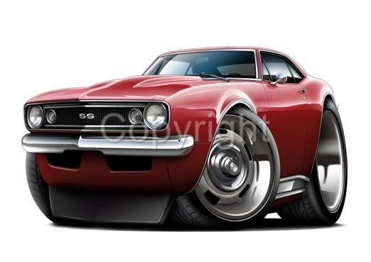 Chevy Camaro Ss Muscle Car Cartoon T Shirt Gm Nwt