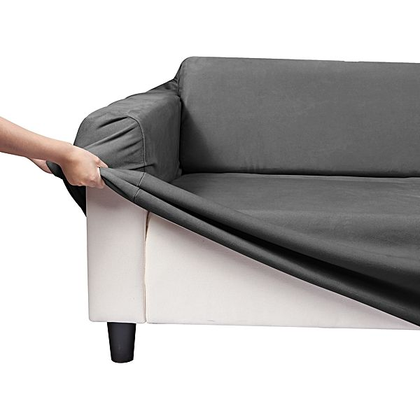 Stretch To Fit Sofa Cover Faux Suede