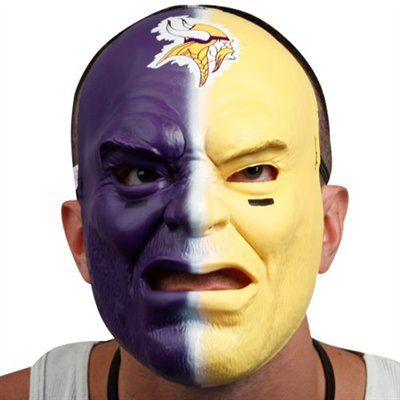 Minnesota Vikings Purple Gold Fan Face Mask Face Paint Ideas