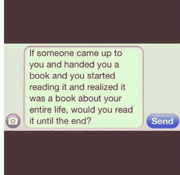 would you? ...
