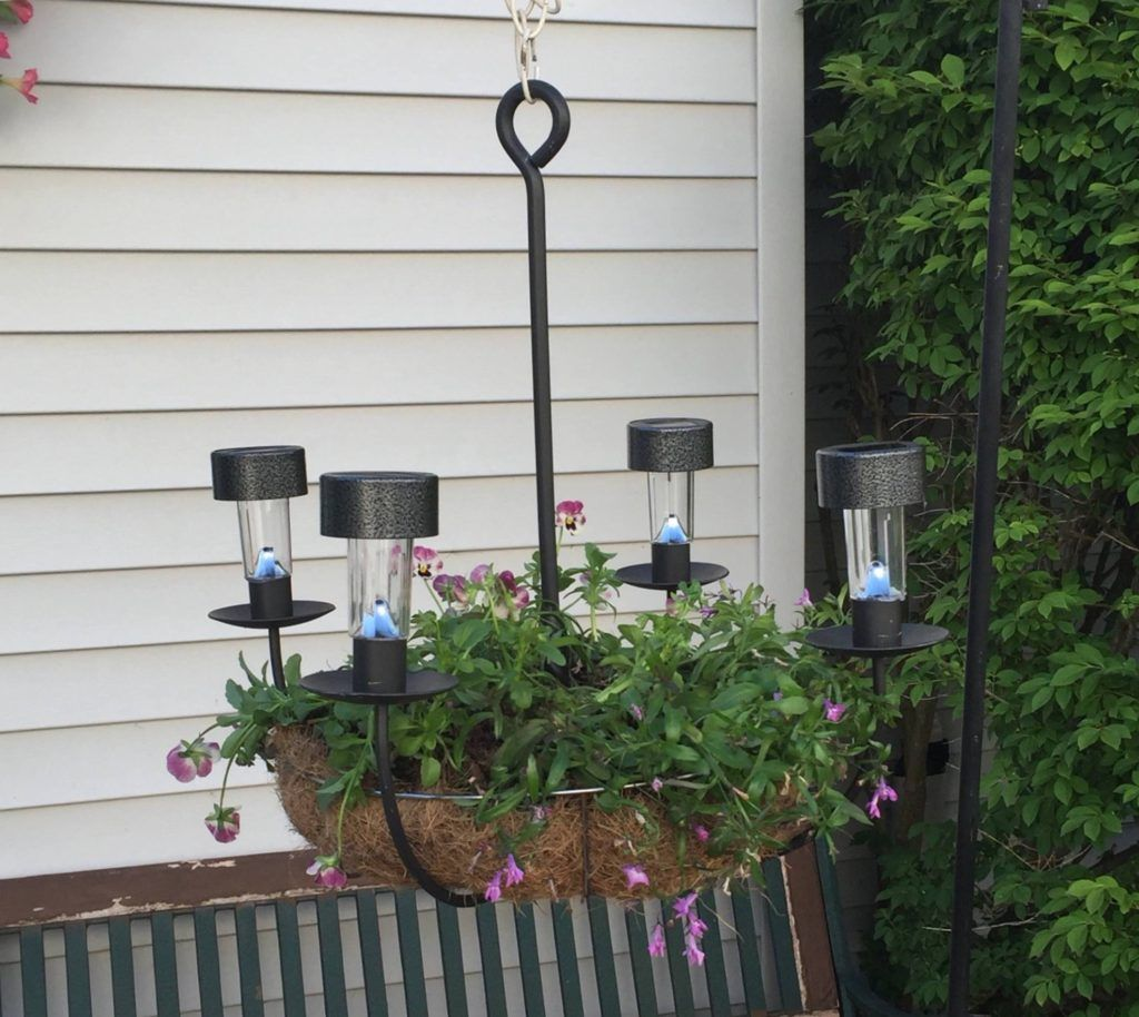 Diy chandelier planter upcycle challenge chandelier planter diy diy chandelier planter upcycle challenge our crafty mom solar light arubaitofo Choice Image