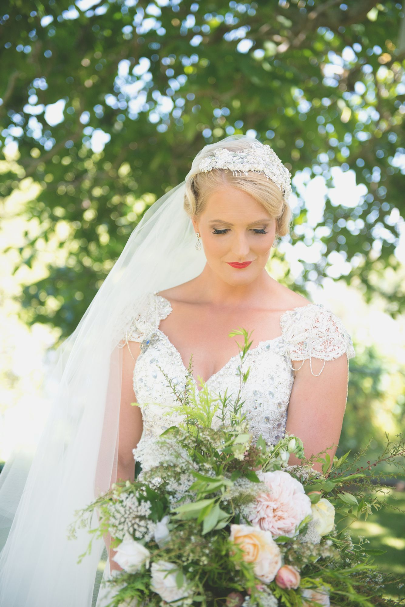 hollie pulled off the vintage bridal look with her own style for