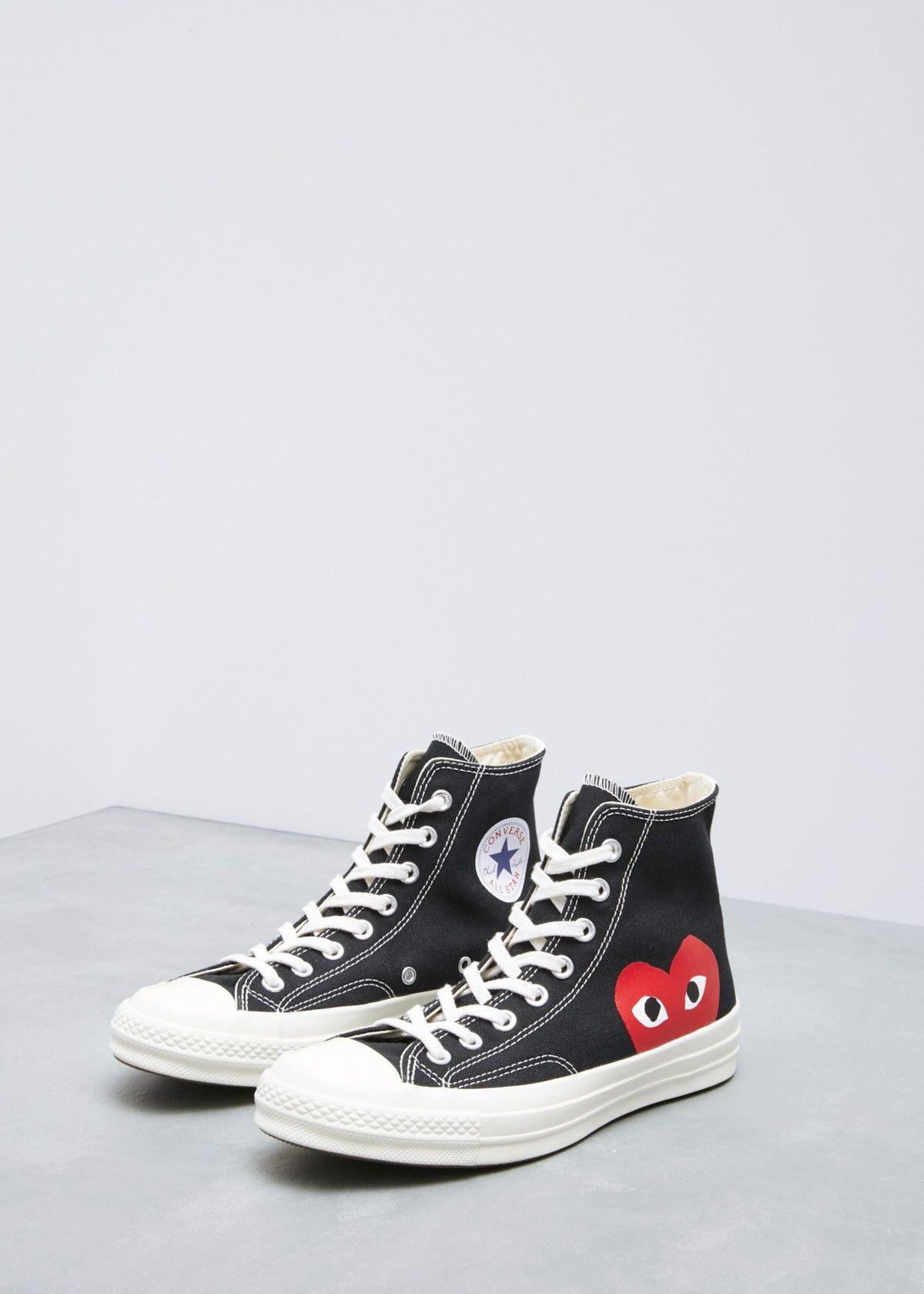 black high top cdg converse