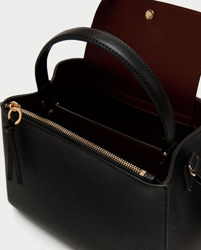 f32f1208f Image 6 of MEDIUM TOTE BAG WITH ZIP from Zara   Bags in 2019 ...