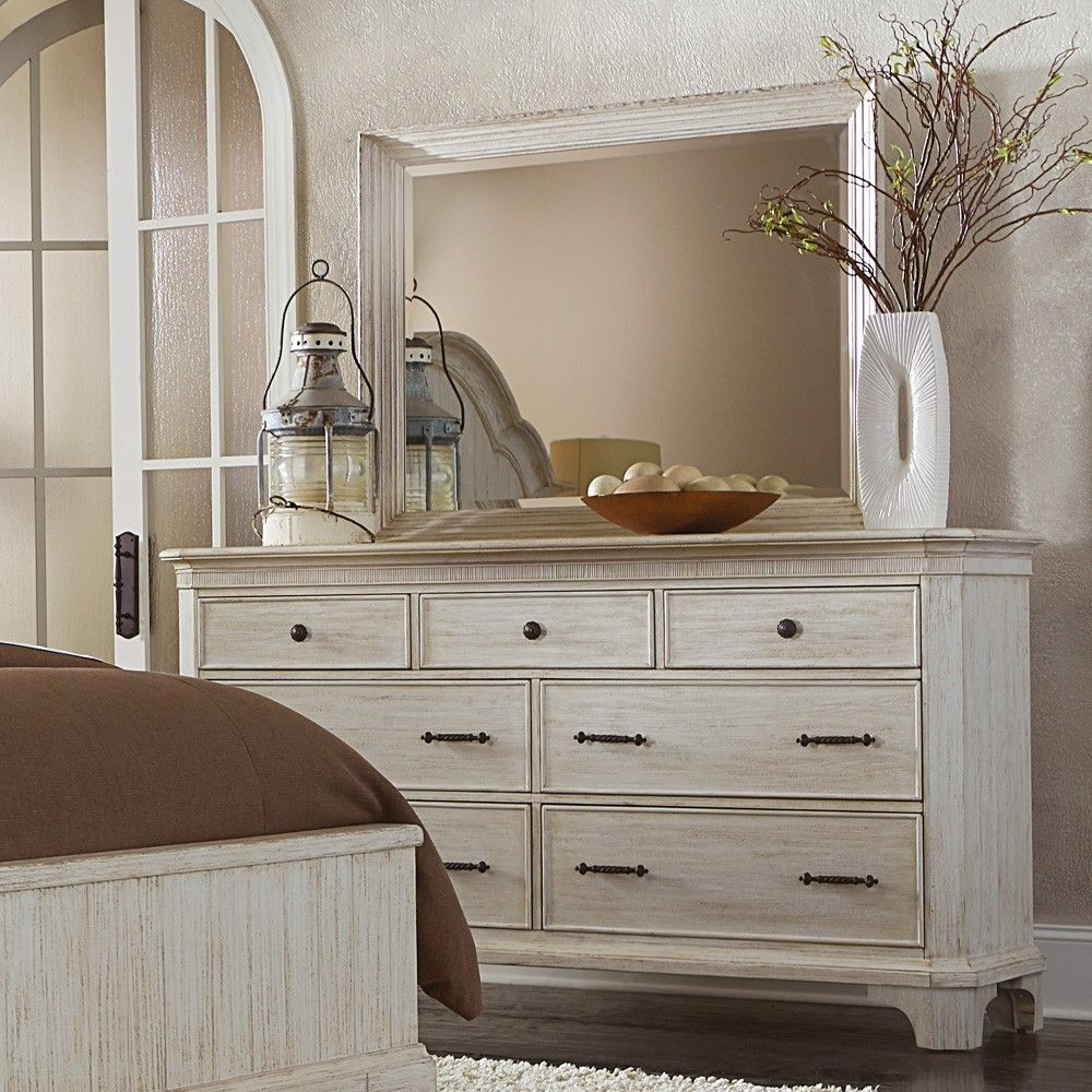 Aberdeen Wood Seven Drawer Dresser Only In Weathered White By Riverside Furniture Riverside Furniture Furniture Retail Furniture [ 1000 x 1000 Pixel ]