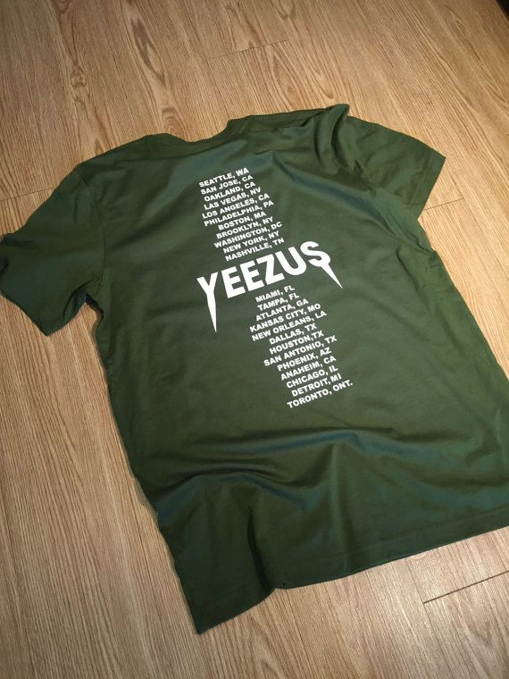 13ceaeda7 Yeezus Tour Olive Green Kanye West T-Shirt / Yeezy by BlvckedOut ...