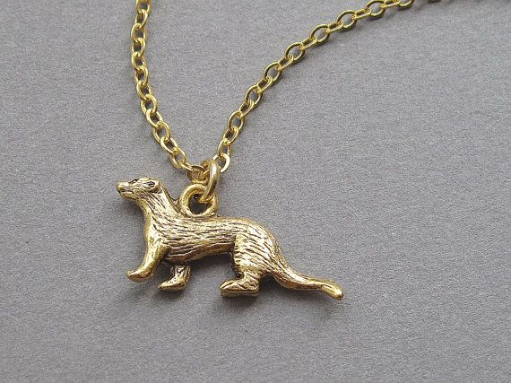 Otter necklace small cute gold marine charm pendant by sevenstarz otter necklace small cute gold marine charm pendant by sevenstarz 1200 aloadofball Images