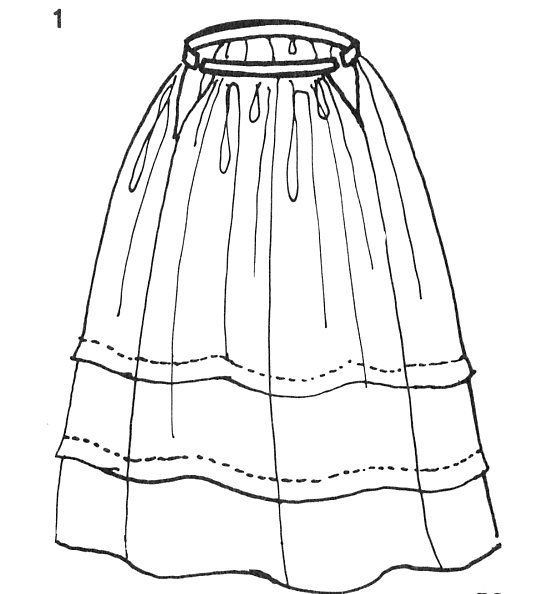 Under the influence of city dress, a petticoat, the šotana, is worn over the chemise. This is also of linen. It is long, full, and has a couple of horizontal tucks.
