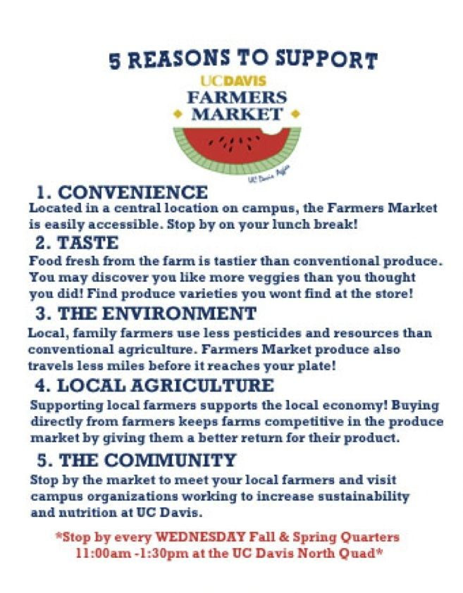5 Reasons To Support The Uc Davis Farmers Market Sustainable