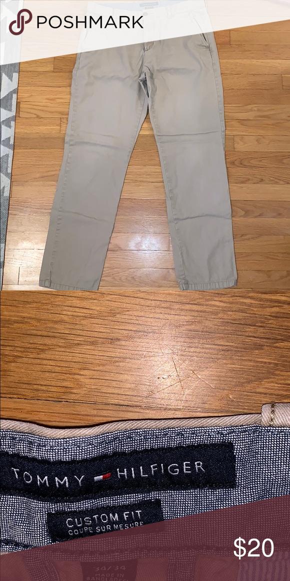 045c3f62 Tommy Hilfiger tan chinos Size 34x34 men's chinos custom fit tan Tommy  Hilfiger Pants Chinos & Khakis