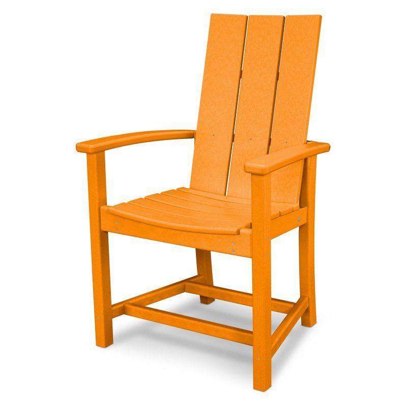Polywood Modern Trio Adirondack Dining Chair Polywood