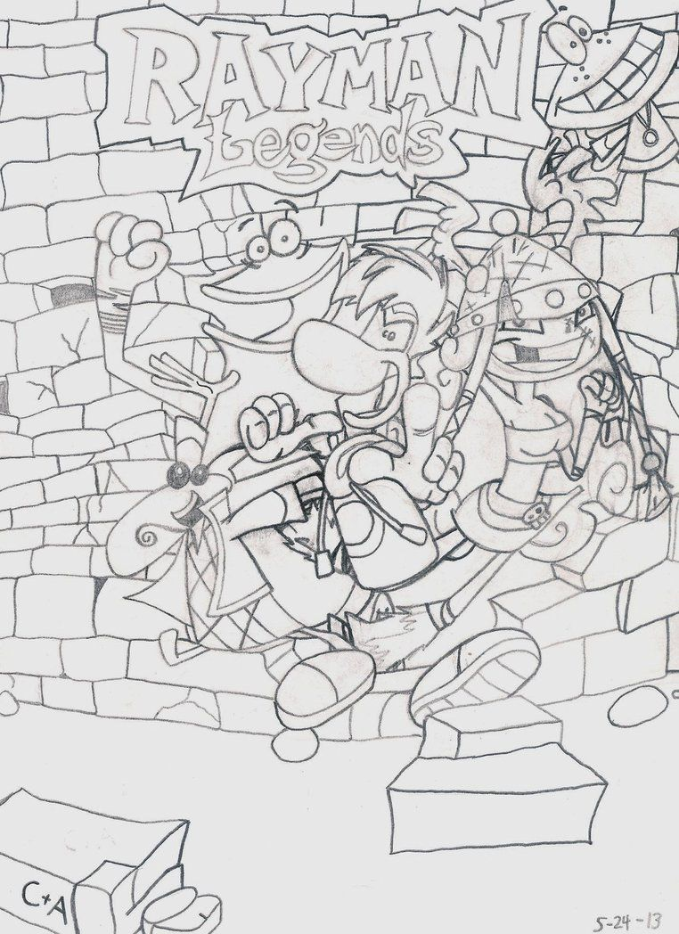 Coloring Pages Rayman Print Character From The Game ...