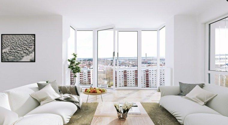 Salonfarbidee 50 Ideen für Wohnzimmer in weiß Pinterest
