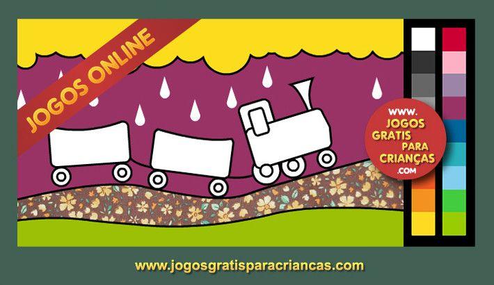 Pintar Trem! Jogos de colorir online para crianças   cats   Pinterest