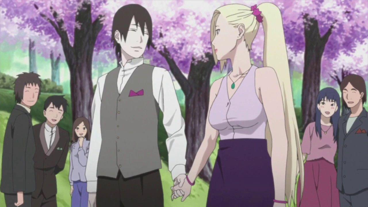 Sasuke Attends Naruto S Wedding Naruto Shippuden Episode 500 Sai Y Ino Naruto Anime Personajes De Naruto