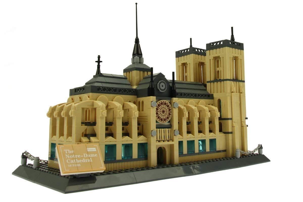 Steinchenshop Wange Klemmbausteine Architektur Set Noppensteine Konstruktionsspielzeug Notre Dame Lego Lego Star Wars Toys
