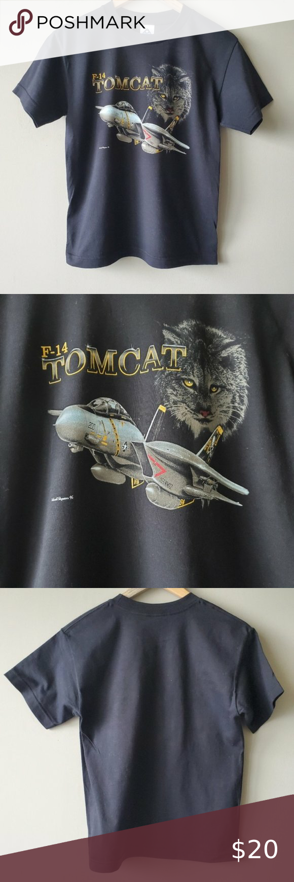 Alstyle Apparel Activewear Black Graphic Tee 100 Cotton Graphic F 14 Tomcat Graphic Of Plane See Last In 2020 Black Graphic Tees Alstyle Apparel Active Wear