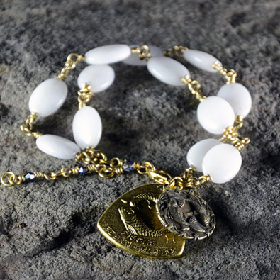 #OpenSky                  #Women                    #Pisces #White #Jade #Zodiac #Double #Pendant #Bracelet #James #Murray #Jewelry                         Pisces White Jade Zodiac Double Pendant Bracelet by James Murray Jewelry                                http://www.snaproduct.com/product.aspx?PID=5822745