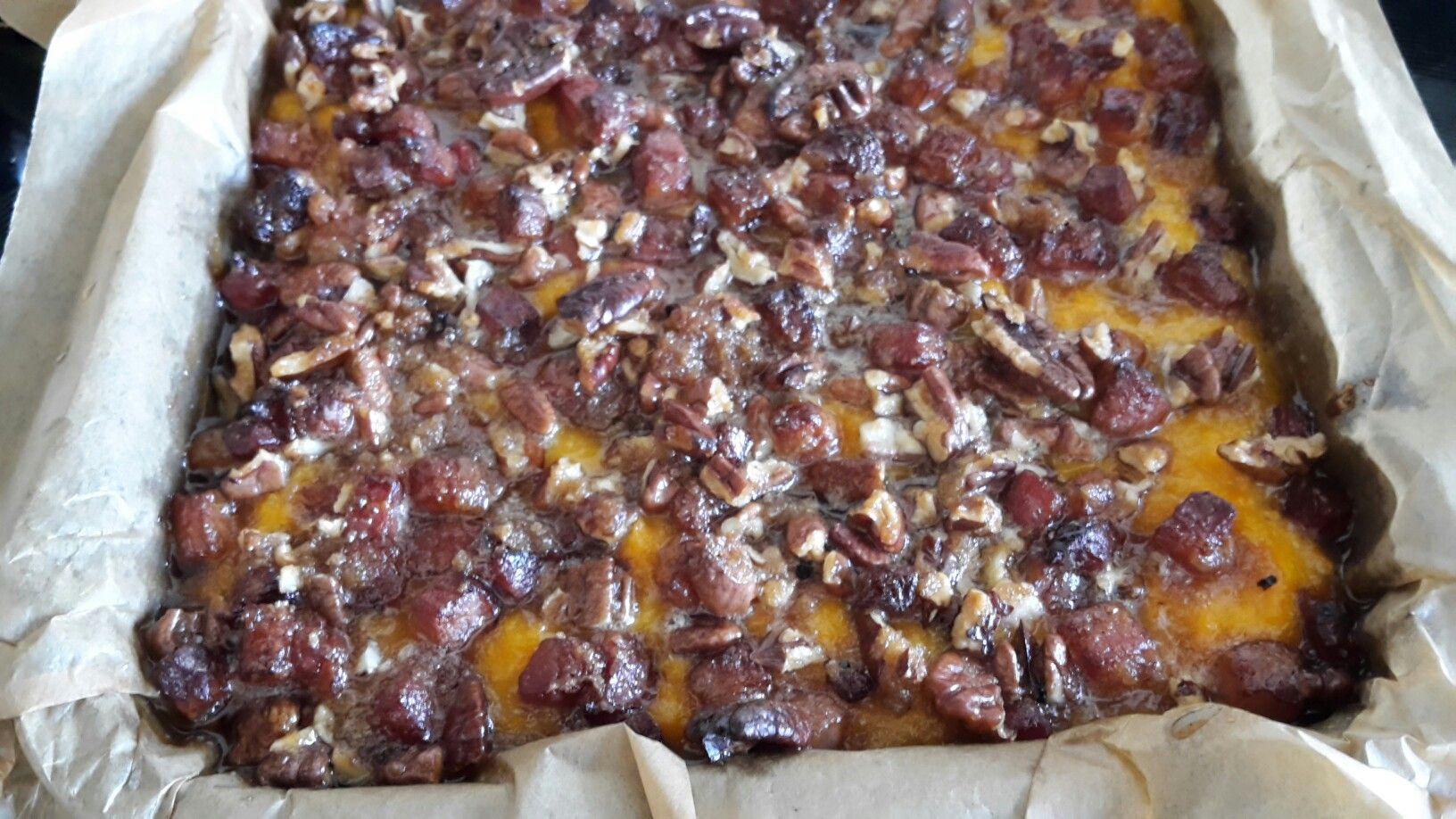 Sweet Potato Casserole with Bacon and Pecans