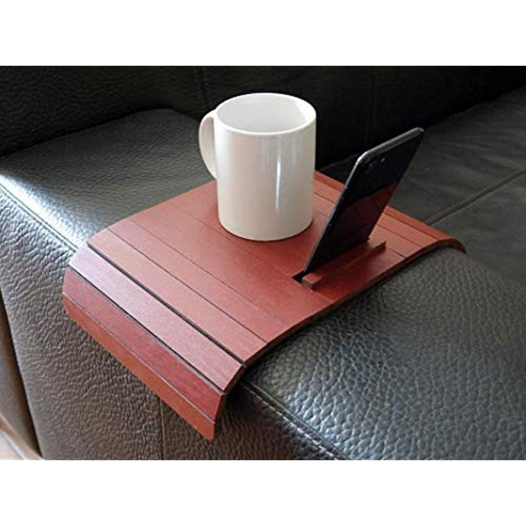 Holz Sofa Armlehnentisch Mit Iphonestander In Vielen Farben