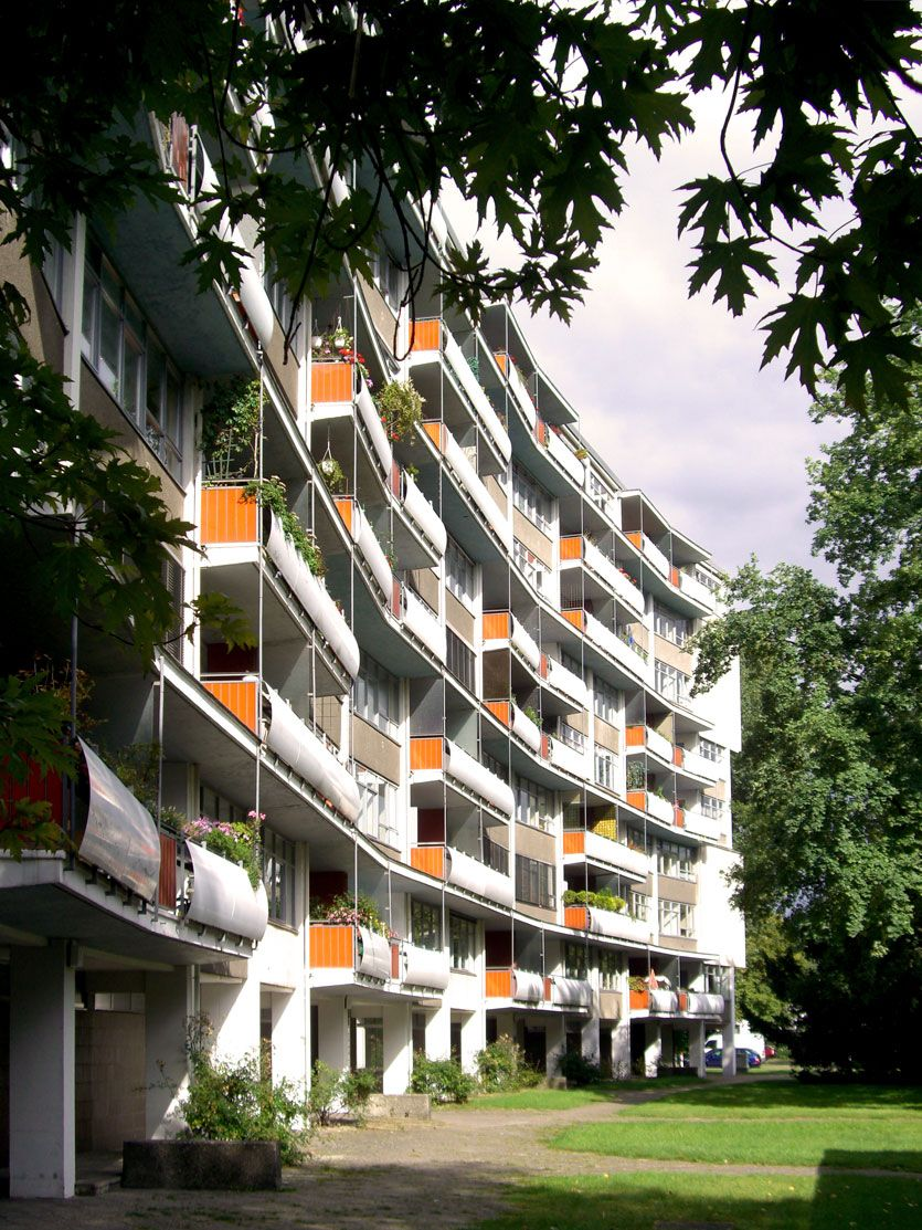 Walter gropius edificio de apartamentos hansaviertel for Bauhaus berlin edificio
