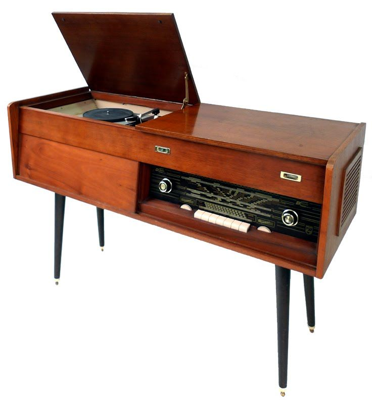 Mueble hifi con tocadiscos a os 50 60 cosas antiguas juguetes y juegos - Muebles anos 60 ...