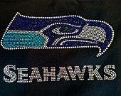 Rhinestone Seahawks