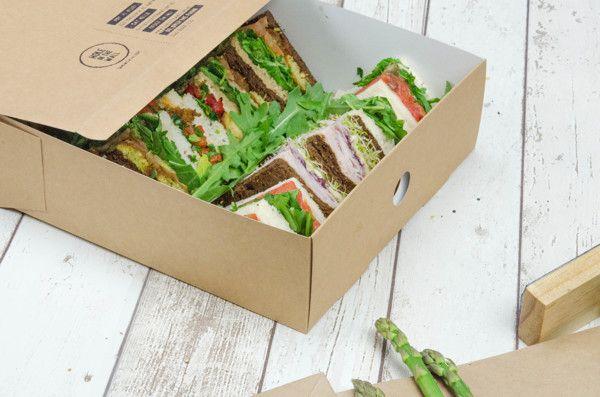 sandwich lebensmittelverpackung belegte br tchen und sandwichbar