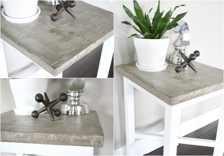 Tisch In Betonoptik Selber Machen Ideen Mit Effektspachtel Beton