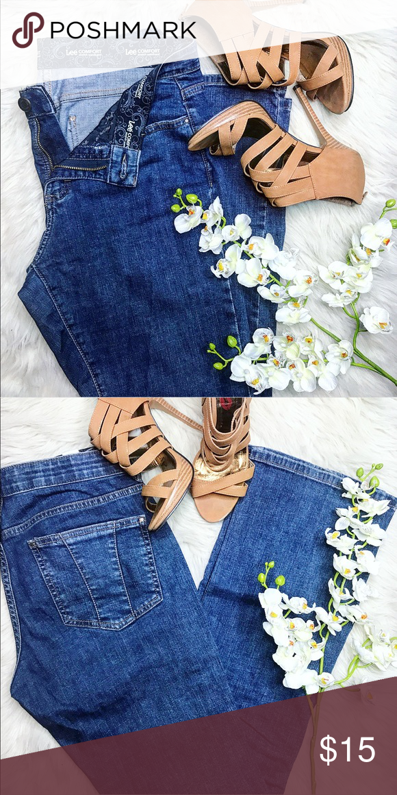 s blue similar short and comforter waistband like pre stretch items comfort lee womens denim owned jeans