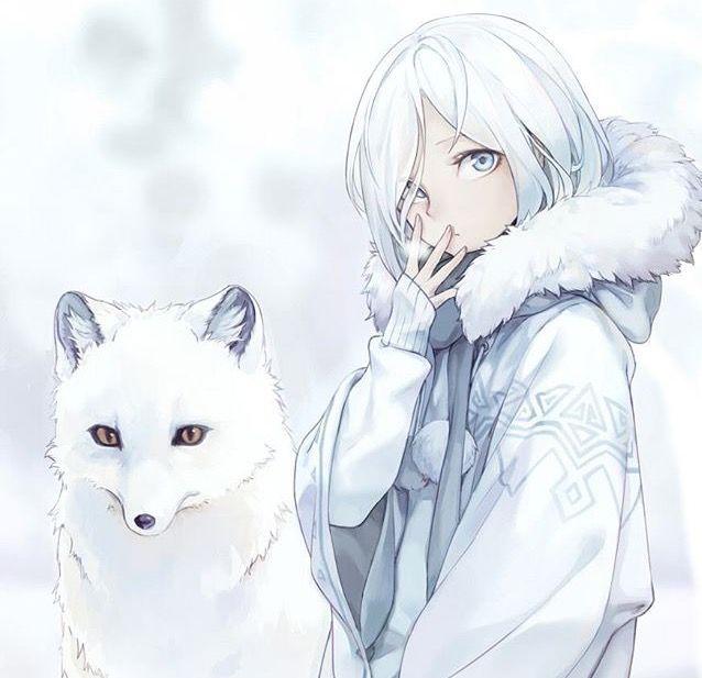 Winter Girl Arctic Fox Anime Wolf Girl Anime Snow Anime