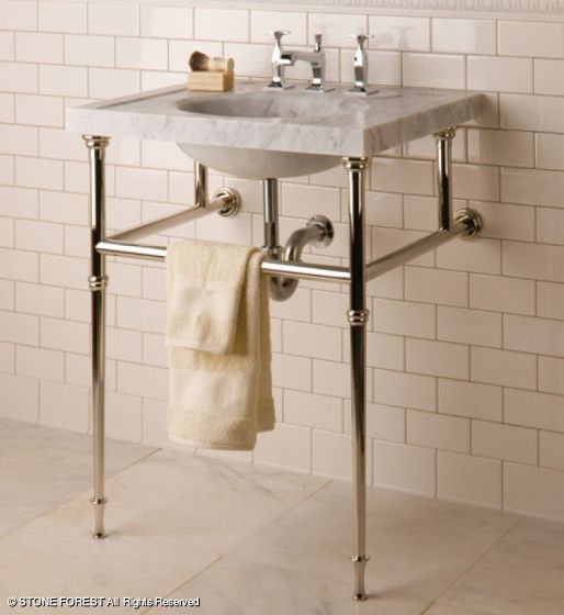 Photos Of marble sink with nickle legs Forest Vintage Washbasin in Carrara Marble C