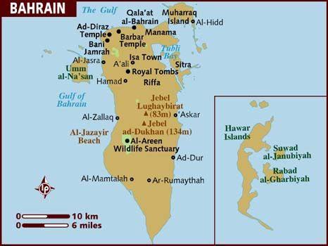 Map of Bahrain Middle East Pinterest Bahrain city City maps