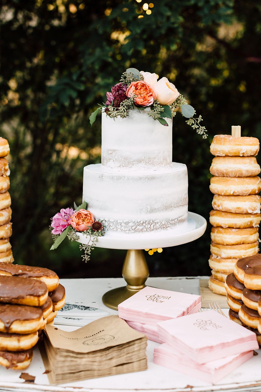simple wedding cake photo by Plum