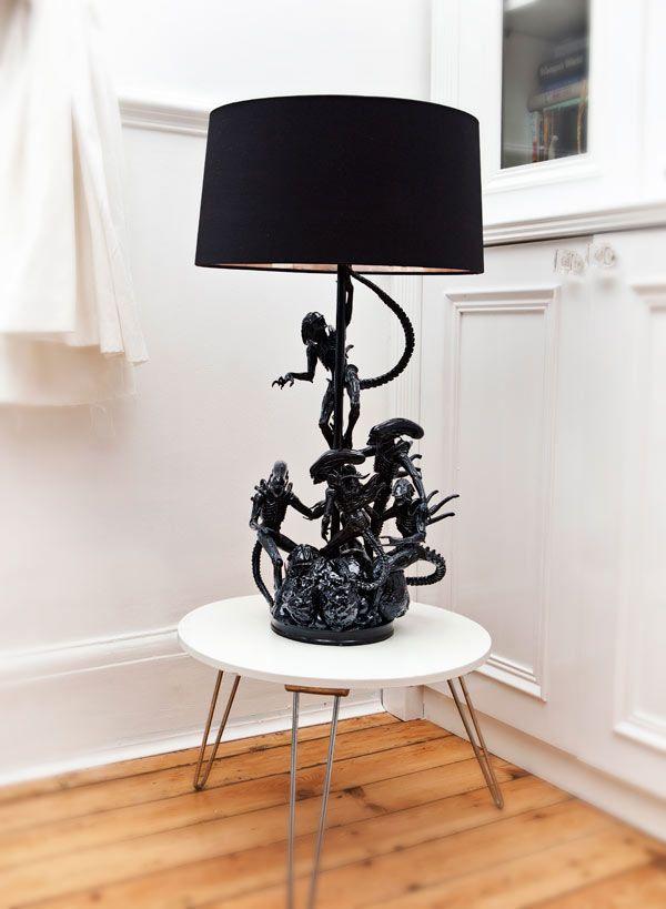 Alien Lamp: Action Figures Reborn In Evil Robot Designs Lamps