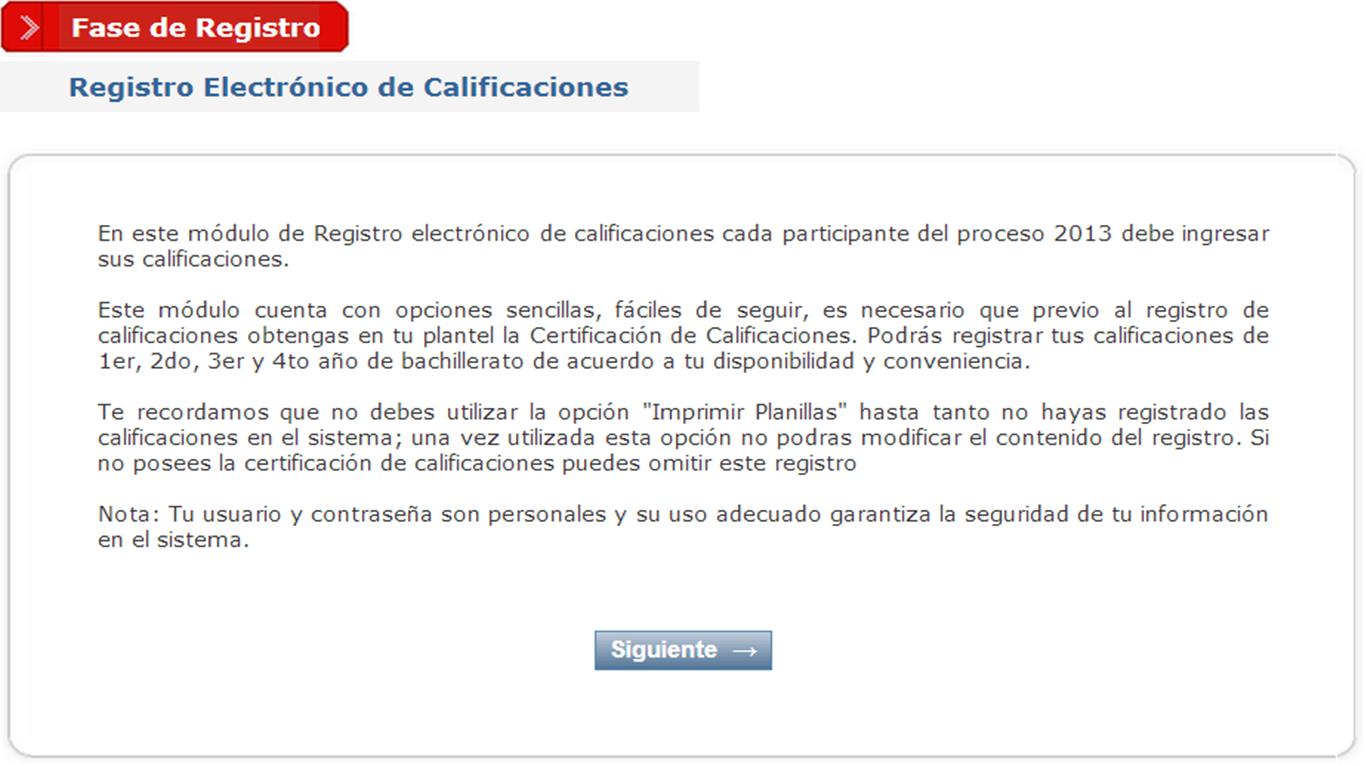REGISTRO ELECTRÓNICO DE CALIFICACIONES