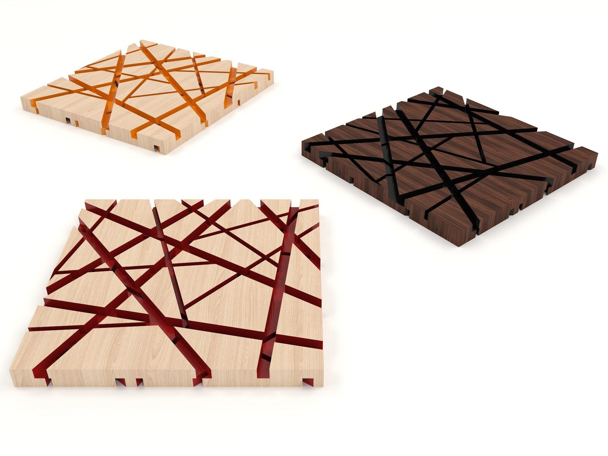 sous plat milieu de table en bois komorebi by valsecchi 1918 design nicola de ponti design. Black Bedroom Furniture Sets. Home Design Ideas