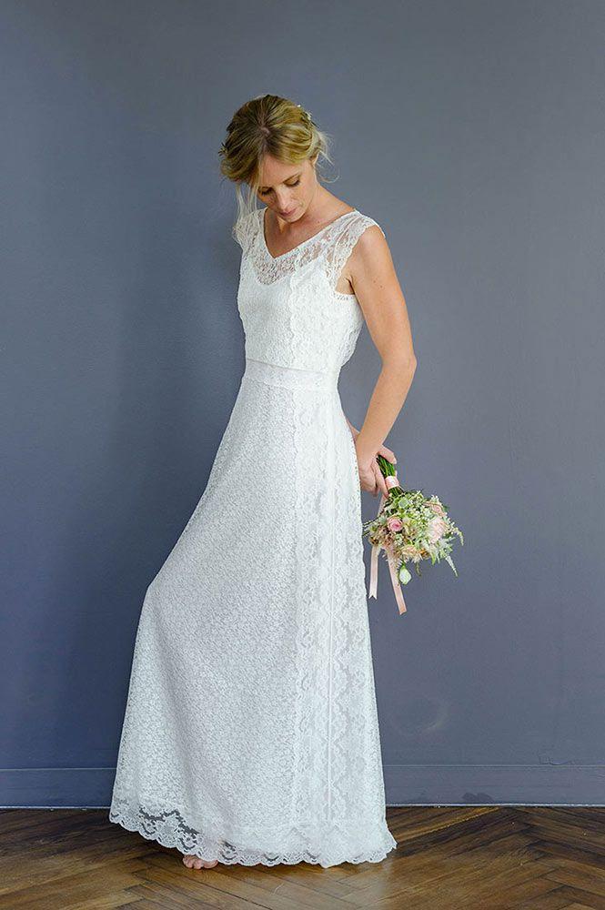 Louise dentelle   Brides Short Sleeves   Pinterest   Collection ...