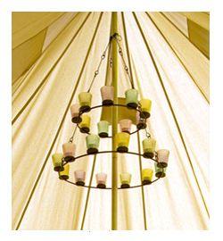 Tea Light Chandelier Creative Lighting Bell Tent Glamping