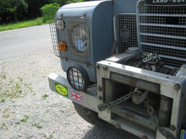 Original Land Rover series 3 hydraulic winch.